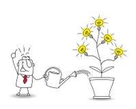 Cultive ideias ilustração do vetor