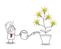 Cultive las ideas ilustración del vector