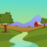 Cultive a paisagem Imagem de Stock
