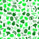 Cultive y cultivando el modelo verde inconsútil eps10 de los iconos simples grandes del color Imagenes de archivo