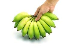 Cultiveer banaan op isolate witte achtergrond royalty-vrije stock foto