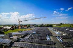 Cultivo da célula solar Fotos de Stock Royalty Free