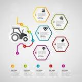 Cultivo de infographics de la cronología ilustración del vector