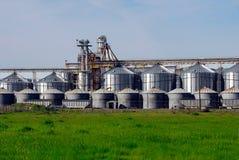 Cultivo de silos de grano Fotografía de archivo