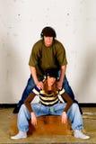 Cultivo del salto de la cadera, adolescentes Imagen de archivo