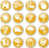 cultivo del sistema del icono ilustración del vector