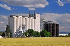 Cultivo do silo fotografia de stock