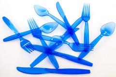 塑料cultlery 免版税库存图片