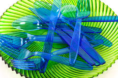 Cultlery en plastique Image stock