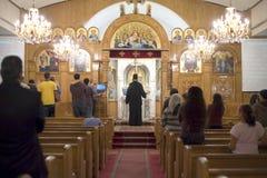 Culto de oración de Vespers Imagenes de archivo