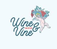 Culto del vino colorato Fotografia Stock