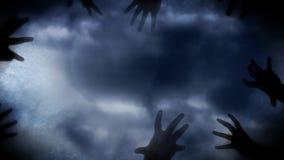 Culto della luna dello zombie stock footage