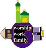 Culto, lavoro e famiglia Fotografie Stock Libere da Diritti