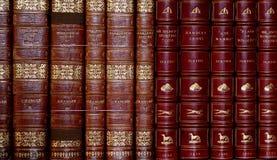Cultualerfenis, boeken in het kasteelbibliotheek van Leeds stock foto
