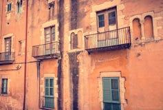 Cultura Catalan - Windows fotografia de stock