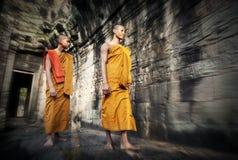 Cultura che contempla monaco Buddhism Traditional Concept fotografie stock