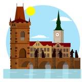 Cultura checa lugar para el turismo y el viaje libre illustration