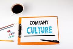 Cultura de empresa, fundo do negócio Mesa de escritório com artigos de papelaria Foto de Stock Royalty Free