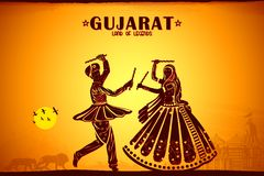 Cultura de Gujrat ilustração royalty free