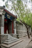 Cultura de Hutong de la residencia de Pekín en Shichahai de Pekín Fotografía de archivo libre de regalías