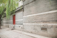 Cultura de Hutong de la residencia de Pekín en Shichahai de Pekín Foto de archivo