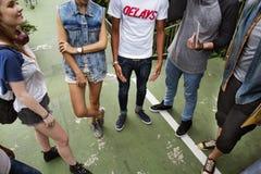 Cultura de juventude do lugar frequentado da unidade da amizade dos povos imagens de stock royalty free