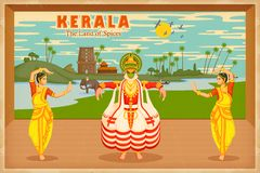 Cultura de Kerala stock de ilustración