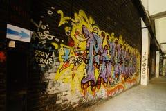 Cultura de la pintada en fábrica del abandono 798 foto de archivo