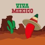 Cultura de México e projeto do marco Imagens de Stock Royalty Free