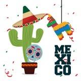 Cultura de México e projeto do marco Foto de Stock