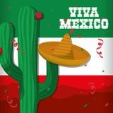 Cultura de México e projeto do marco Imagens de Stock