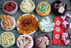 Cultura de Vietname, alimento vietnamiano, Tet, ano novo lunar fotografia de stock