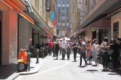 Cultura del carril de Melbourne Foto de archivo libre de regalías
