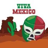 Cultura del Messico e progettazione del punto di riferimento Fotografia Stock