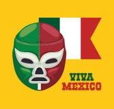 Cultura del Messico e progettazione del punto di riferimento Immagine Stock