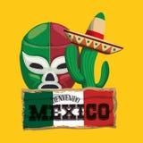 Cultura del Messico e progettazione del punto di riferimento Immagine Stock Libera da Diritti