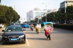 Cultura del motorino della Cina fotografia stock