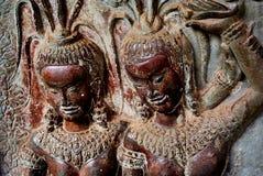 Cultura della Cambogia del tempio di Angkor Wat immagini stock