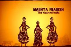 Cultura di Madhya Pradesh illustrazione vettoriale