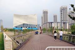 Cultura di Nanchino e parco olimpici verdi di sport Fotografia Stock Libera da Diritti