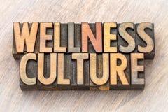 Cultura do bem-estar - exprima o sumário no tipo de madeira fotos de stock royalty free