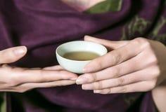 Cultura do chá de China foto de stock