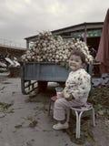 Cultura ed architettura caratteristiche nelle aree della minoranza della Cina fotografia stock libera da diritti