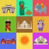 Cultura india hermosa su arquitectura y animales de la gente foto de archivo libre de regalías