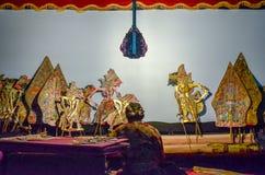 Cultura indonésia do kulit de Wayang fotos de stock royalty free