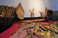 Cultura indonesiana del kulit di Wayang immagine stock