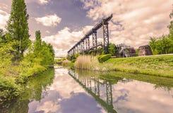 Cultura industrial Alemania de Landschaftspark Duisburgo Nord fotografía de archivo