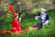 Cultura kazaka immagine stock