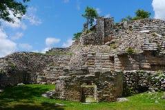Cultura maia México Iucatão de Pyramide das ruínas de Ake imagens de stock