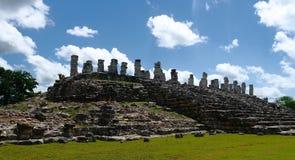 Cultura maia México Iucatão de Pyramide das ruínas de Ake fotos de stock